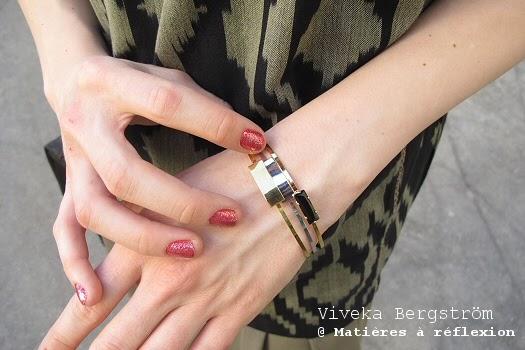Bracelets Viveka Bergstrom en accumulation