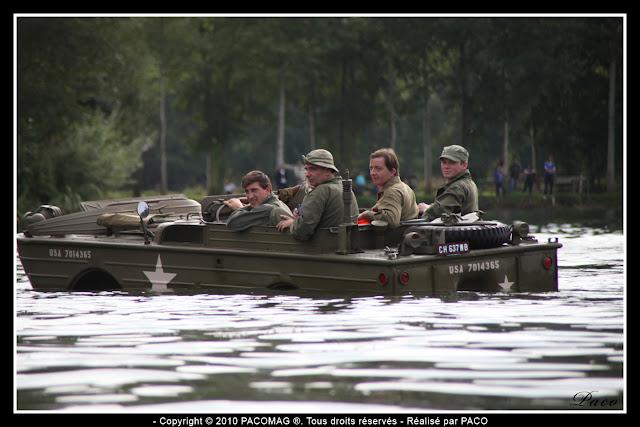 véhicule GPA dans l'eau des gravières de Donchery