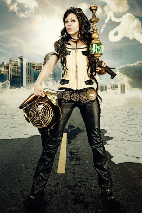 women steampunk costume