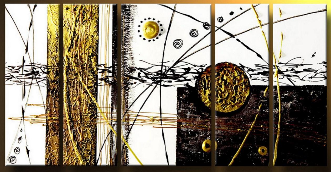 Cuadros modernos pinturas y dibujos cuadros tr pticos abstractos con textura for Imagenes de cuadros abstractos tripticos