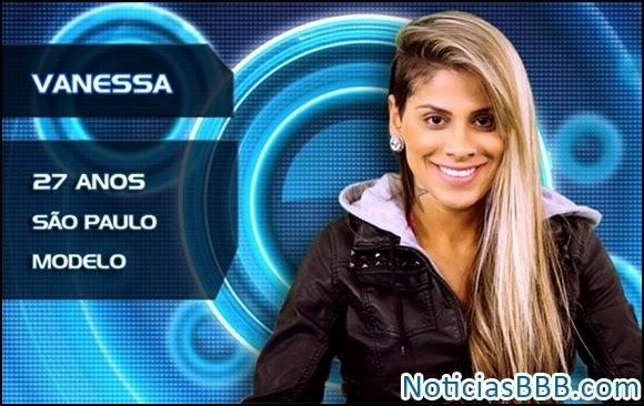 Participante BBB 2014 Vanessa
