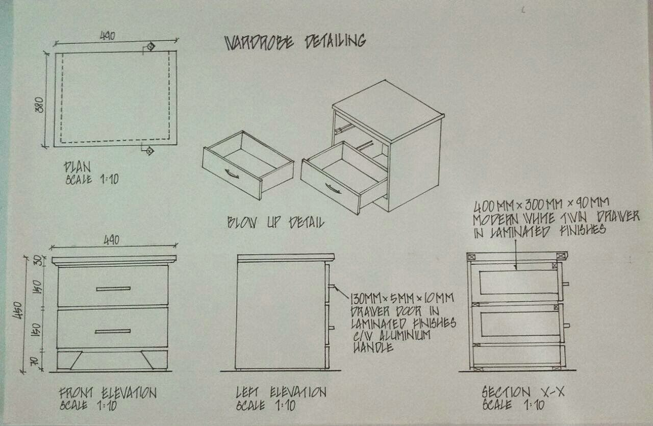 Wardrobe Plan Elevation Section : Fnbe chia sue yi detailing and working drawings