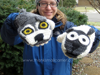 fun adult mittens