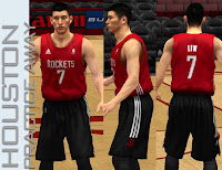 NBA 2K13 Houston Rockets Practice Away Jersey