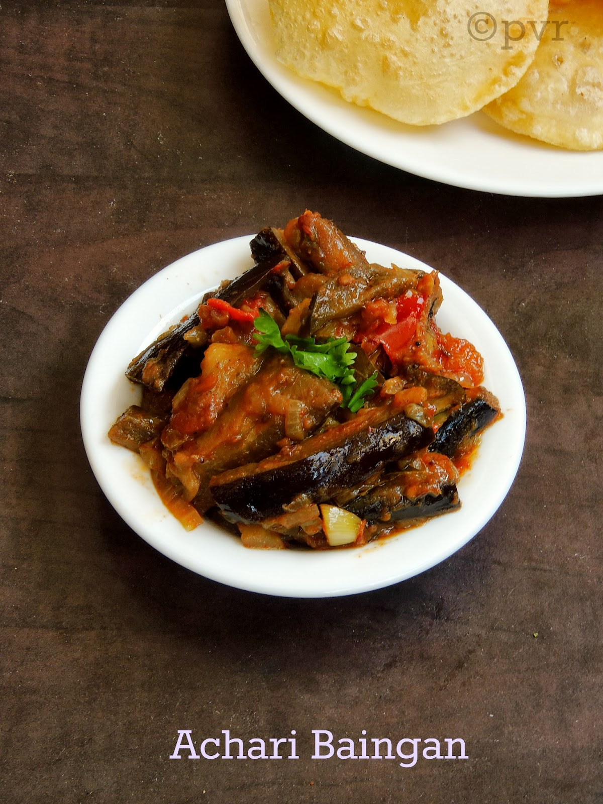 Priya's Versatile Recipes: Achari Baingan/Eggplant with Pickled Spices