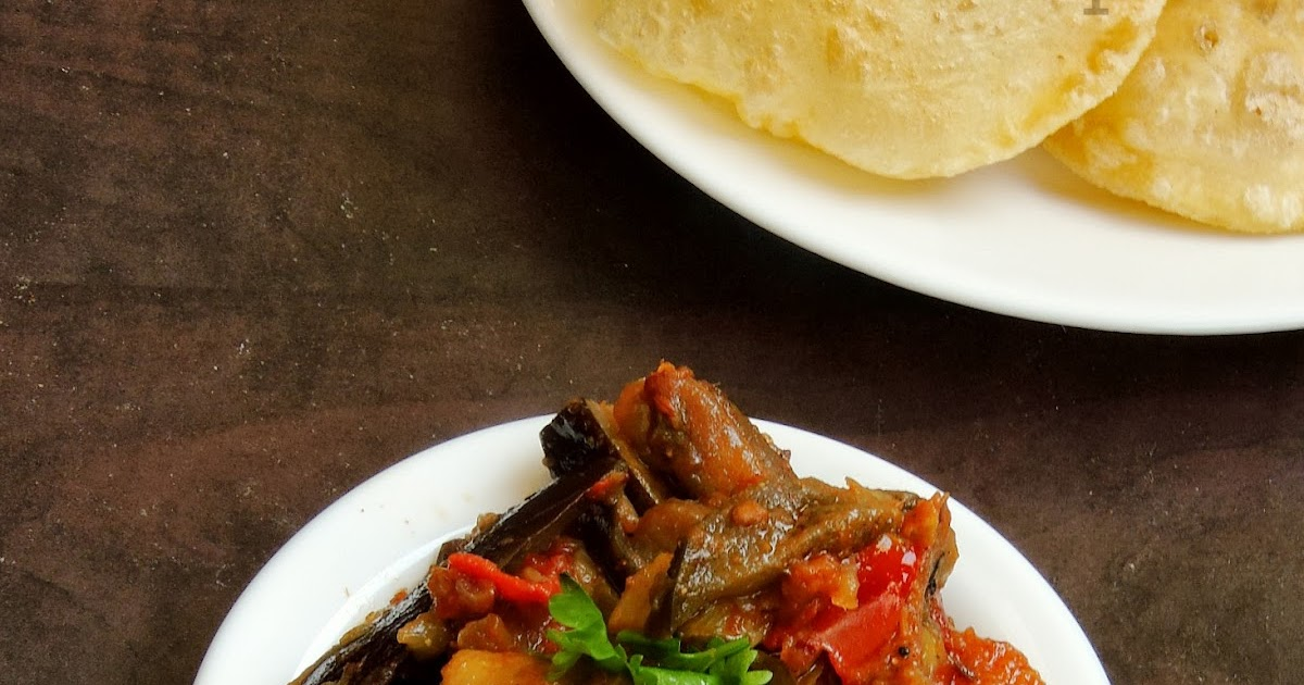 Priya's Versatile Recipes: Achari Baingan/Eggplant with ...