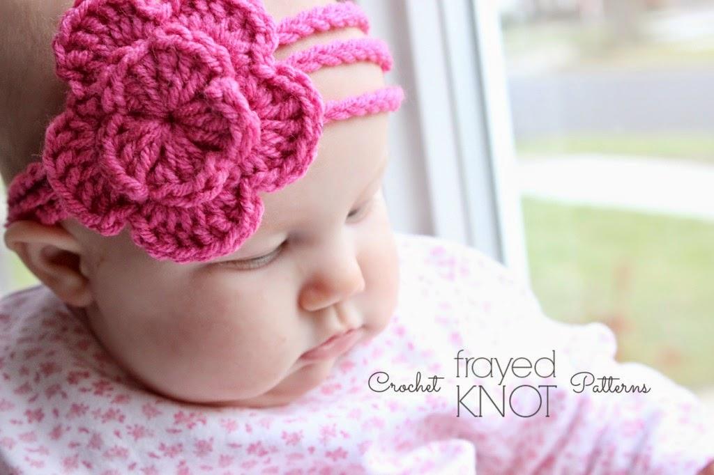 free crochet pattern 3 strand flower headband
