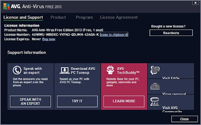 Free AVG Antivirus 2013 Screenshots