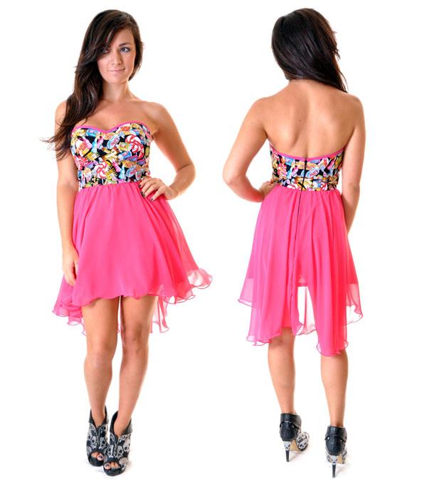 فستان قصير رائع من الشيفون
