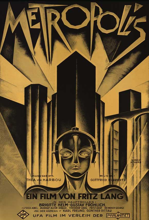Imagen: Cartel de la película de Fritz Lang : METROPOLIS