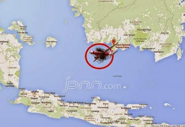 Lokasi Ekor Pesawat AirAsia QZ8501 Ditemukan