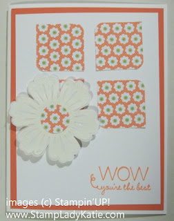 Card made with the Mixed Bunch stamp set and the Blossom Punch
