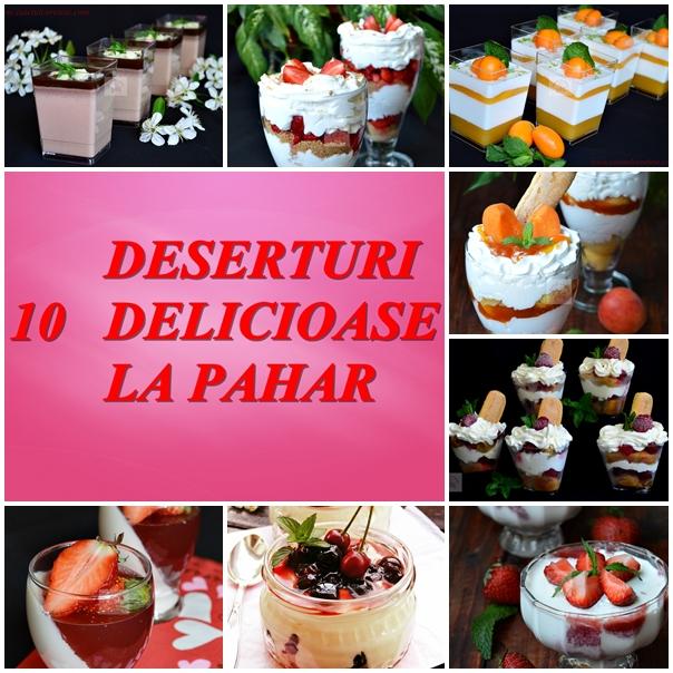 10 deserturi la pahar, elegante aspectuoase si foarte usor de preparat
