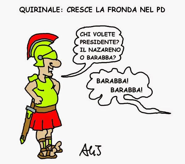 quirinale, presidente, patto del nazareno, renzi, berlusconi, pd vignetta satira