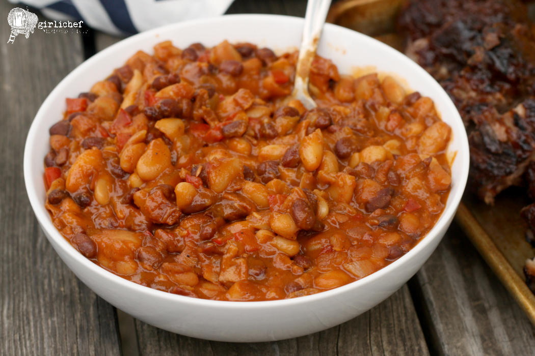 girlichef: Slow Cooker Baked Beans #SheMadeEllaHace