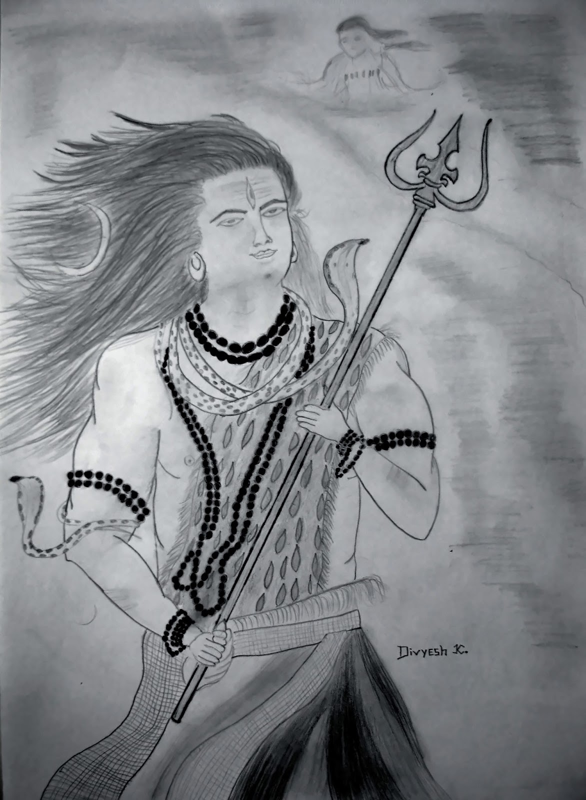 Lord shiva sketch details