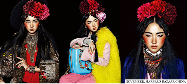 Statement Headwear from Sophie McElligott as seen in Harpers Bazaar China