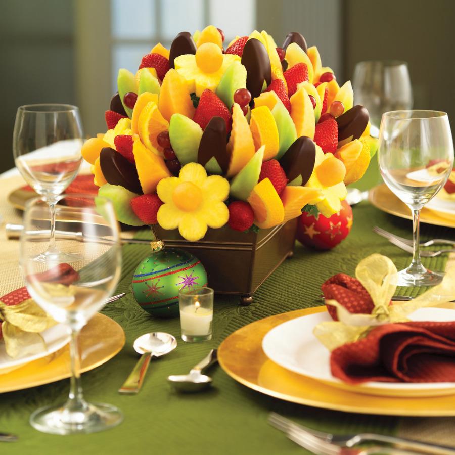 Украшение свадебнаго стола и блюд фото
