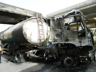 Tanker Explodes, Burns part Of NNPC Mega Station In Abuja (Photos)