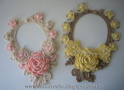 colar de crochê, colar de croche, croche, flor de croche, maxi colar, maxi colar de croche, moda, feminino, acessório, acessorio, moda feminina, acessorio feminino, acessorios feminino, joia, jóia