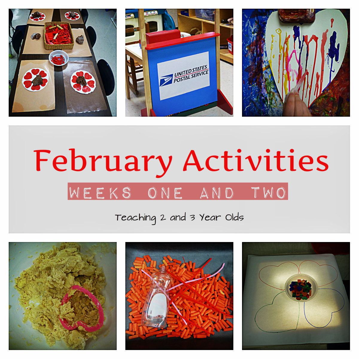 Teaching 2 and 3 year olds preschool activities for february for Preschool crafts for february