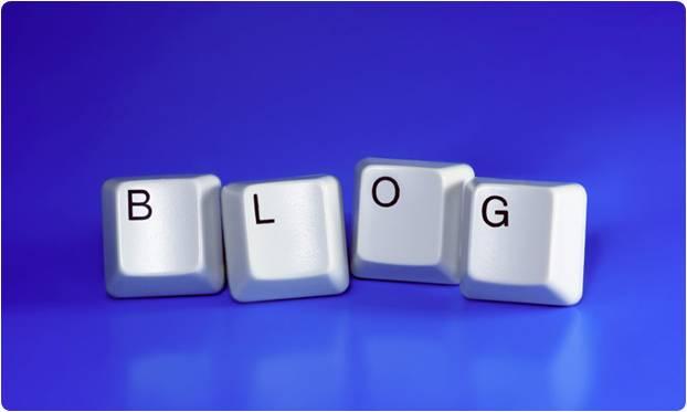 Teclas formando a palavra blog
