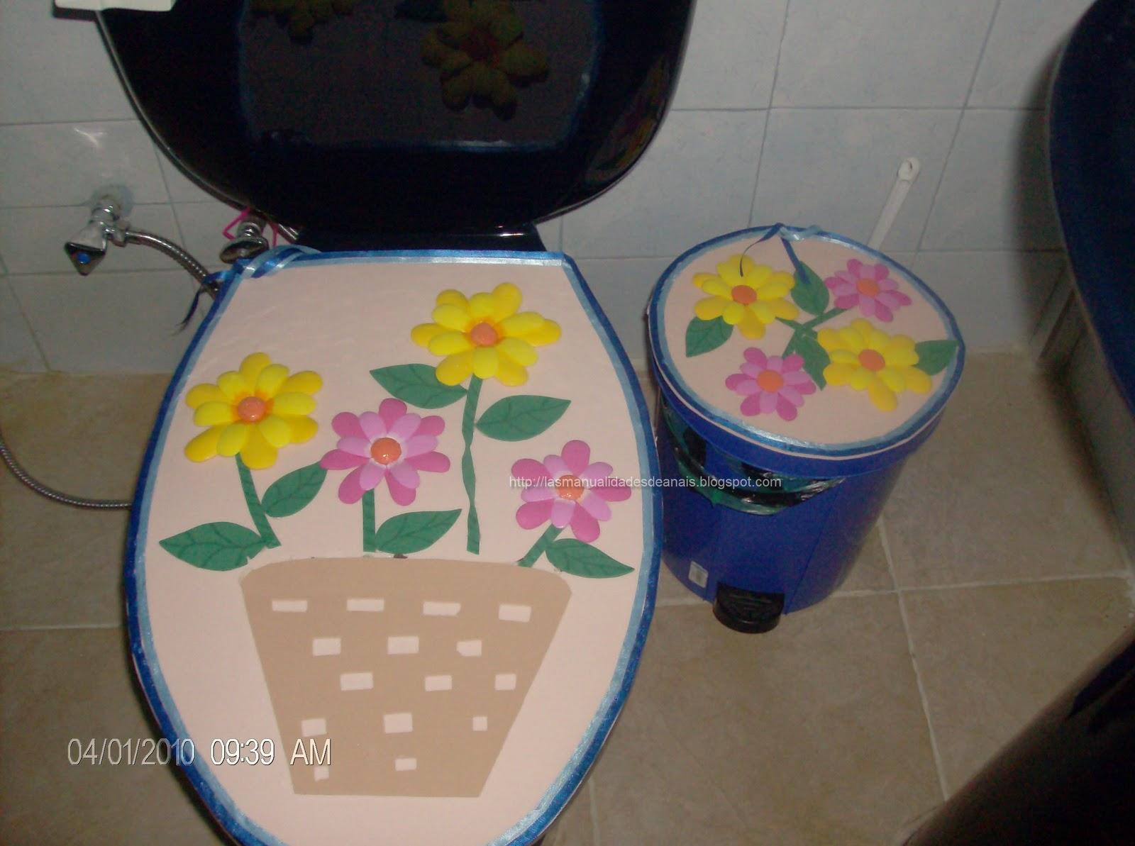 el color de mis manualidades: Juego de baño en foami
