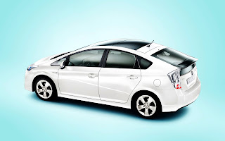 Toyota Prius Hybrit Car 2010 Top Side View HD Wallpaper