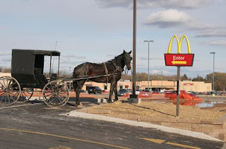 Funny Amish McDonalds Drive Thru Picture Image