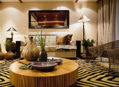 Salas color beige y marr n colores en casa for Estilo etnico contemporaneo