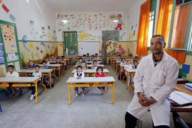 Morocco'da bir sınıf