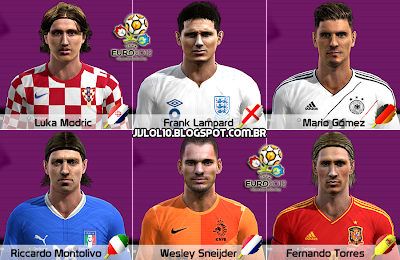 Face de Luka Modrić do Tottenham Hotspur, Face de Frank Lampard do Chelsea, Face de Mario Gómez do Bayern de Munique, Face de Riccardo Montolivo do Milan, Face de Wesley Sneijder da Inter de Milão e Face de Fernando Torres do Chelsea para PES 2012 Download, Baixar Faces de Luka Modrić, Frank Lampard, Mario Gómez, Riccardo Montolivo, Wesley Sneijder e Fernando Torres para PES 2012