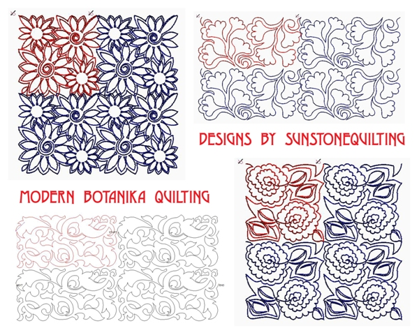 Sunstone Quilting Patterns: New Edge-2-Edge designs ready to quilt!