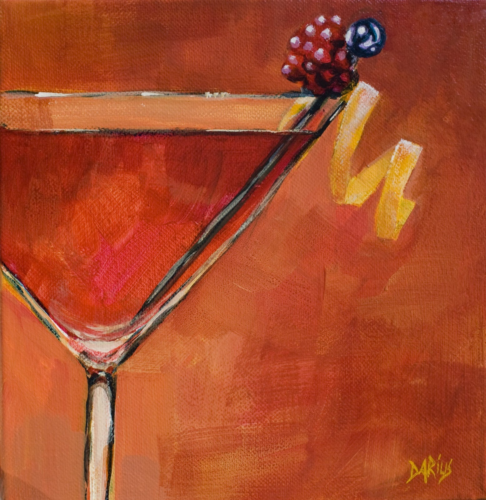 Art by sue darius for Paint and cocktails