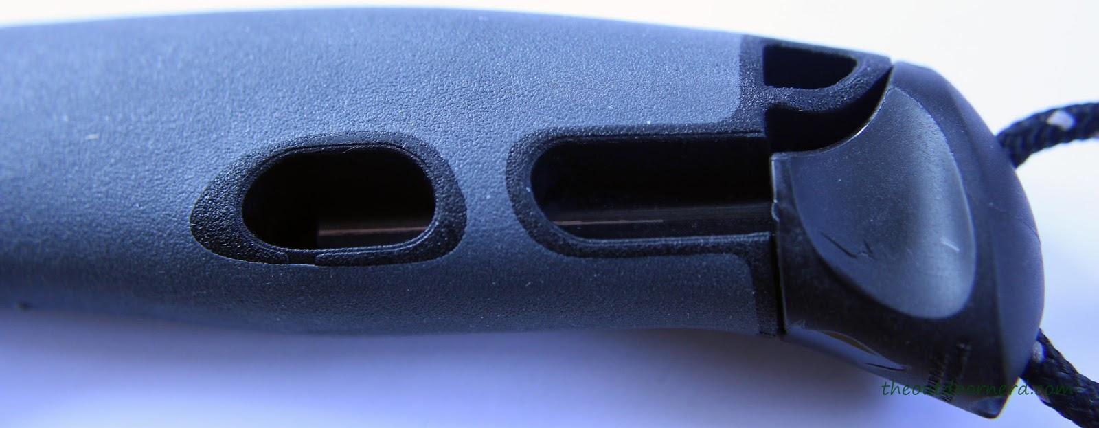 Light My Fire Swedish FireKnife: Closeup Of Handle With FireSteel Cutaway