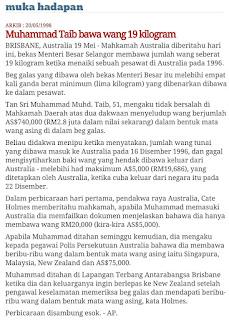 Muhammad Muhd Taib letak jawatan MB Selangor kerana didakwa menyeludup wang di Brisbane