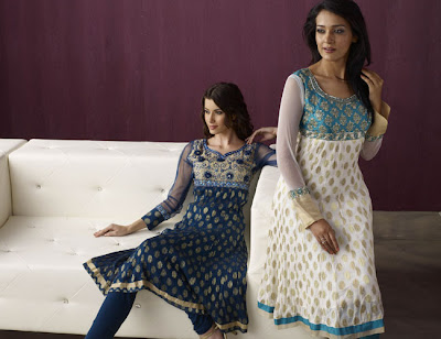 Silk anarkali salwar kameez best fashion