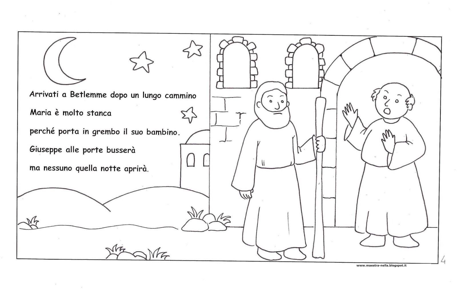 Maestra nella storia del santo natale for Schede natale scuola infanzia