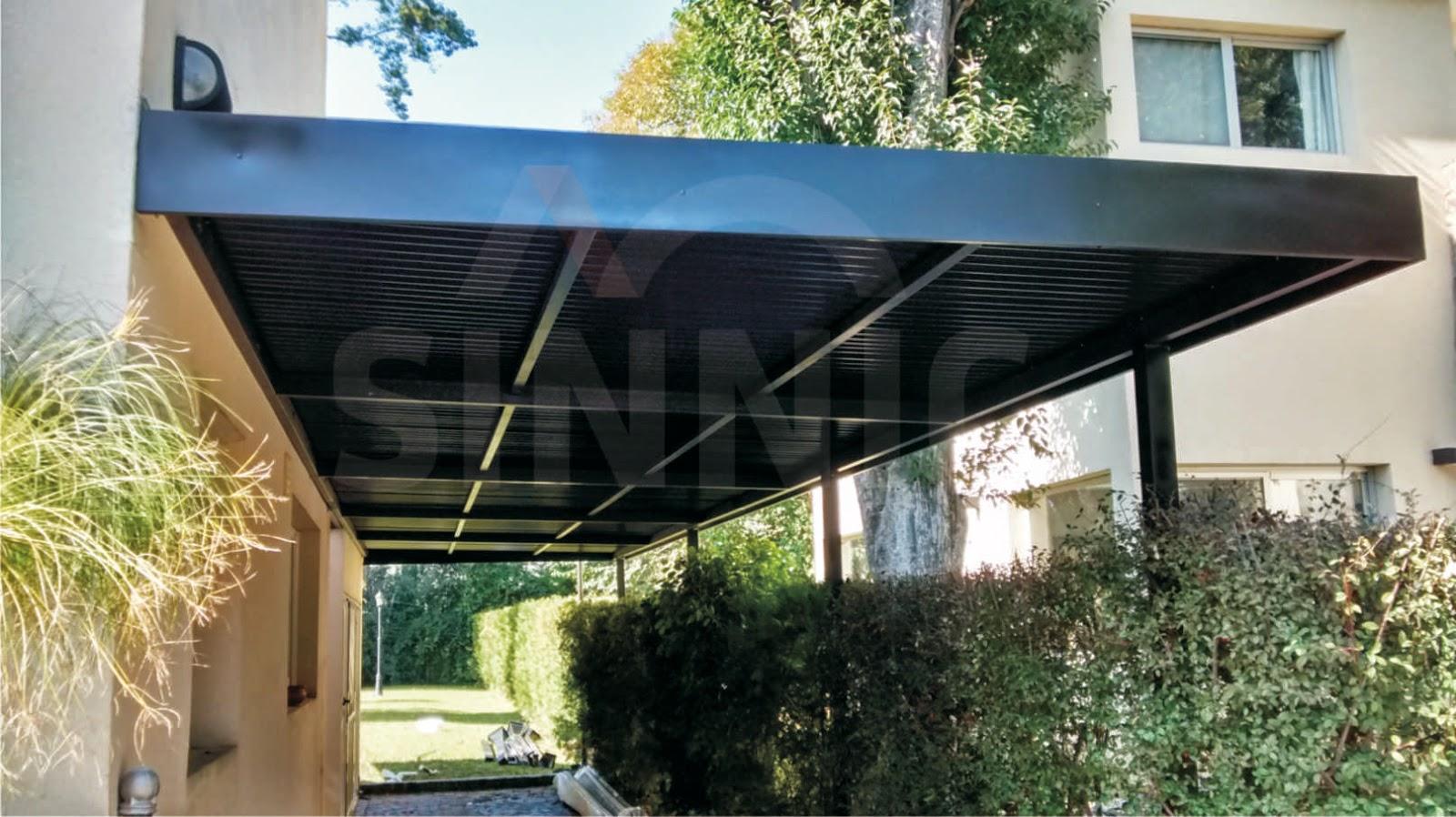 Techo de policarbonato pergolas aleros techo de chapa for Techos de policarbonato para balcones