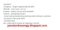 Peluang Kerjaya Sieger Engineering