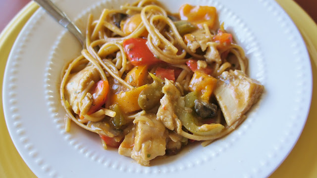 Recipe for Mushroom and Bell Pepper Chicken with Linguine in the Slow ...
