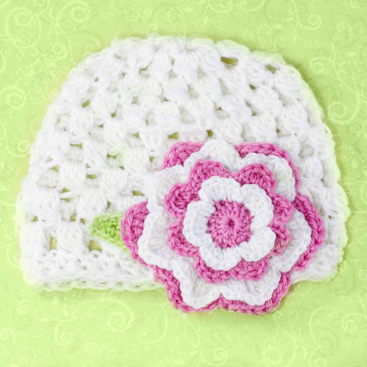 Crochet Beanie Pattern With Flower : Multi Layered Flower Pattern - Media - Crochet Me