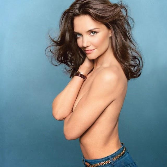 Katie Holmes en topless