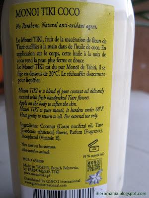 monoi tiare coconut oil Iherb aceite monoi