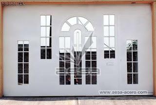 ventanas minimalistas modernas imitaci aluminio forja
