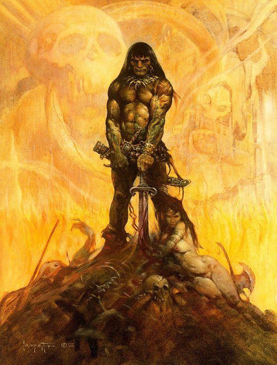 Conan The Barbarian By Frank Frazetta
