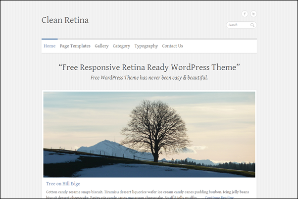 Clean Retina Theme Wordpress Terbaik