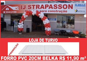 Inaugurou em Turvo, a IJ Strapasson Materiais para Construção