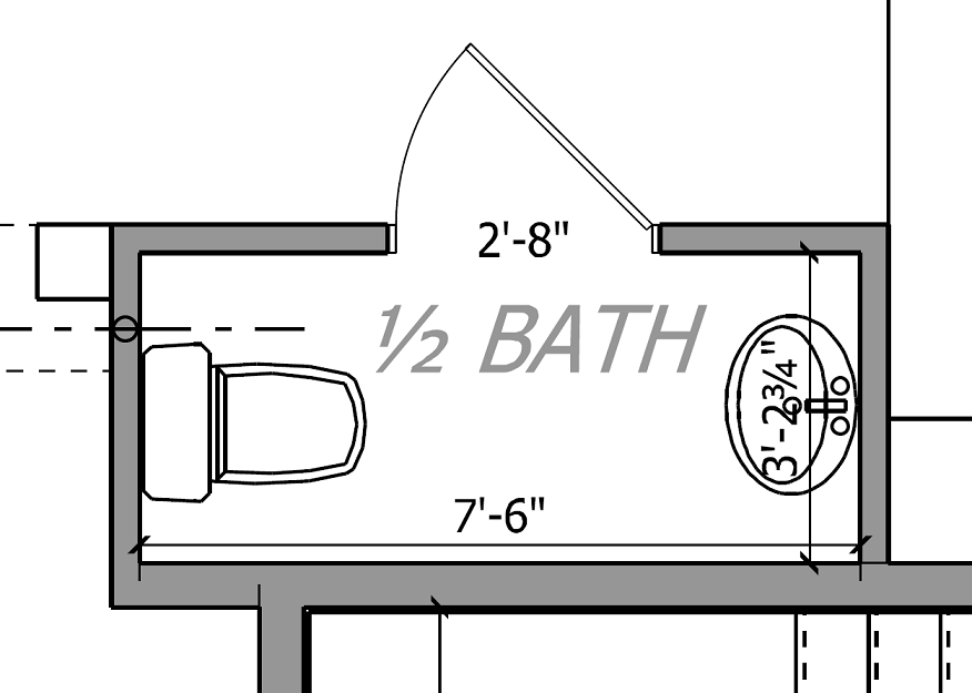 Thousand square feet design suggestions needed for a for Half bath floor plans