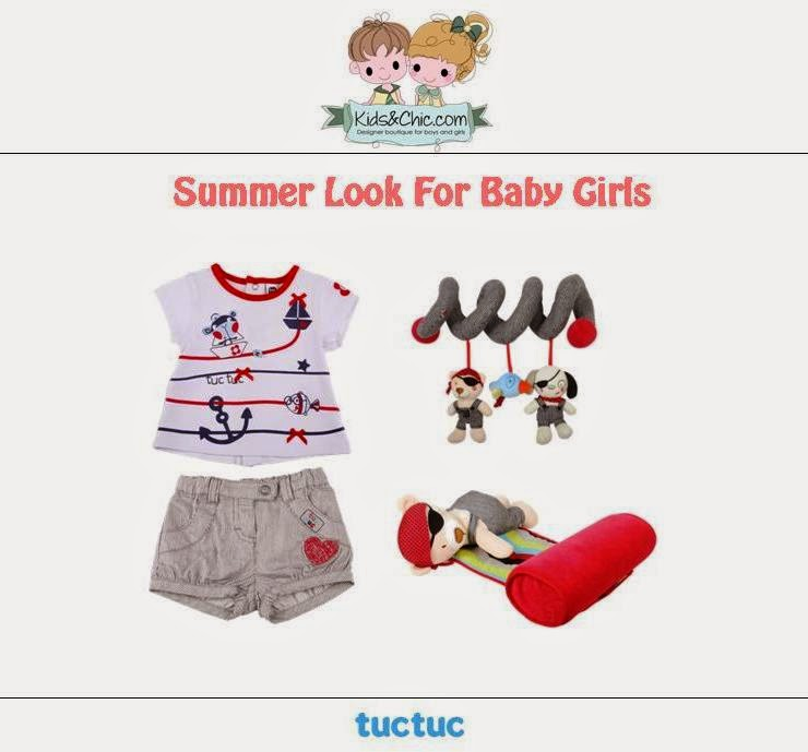 Summer look for baby girls from Tuc Tuc.